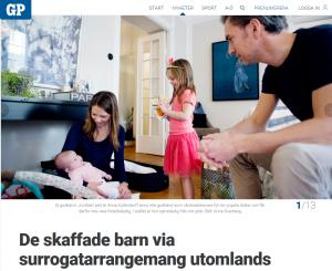 De skaffade barn via surrogatarrangemang utomlands