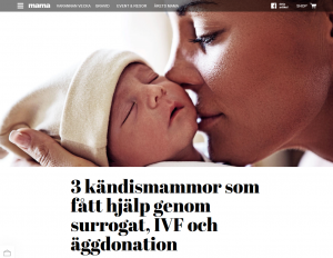 Mama - 3 kändismammor som fått hjälp genom surrogat, IVF och äggdonation - Nordic Surrogacy