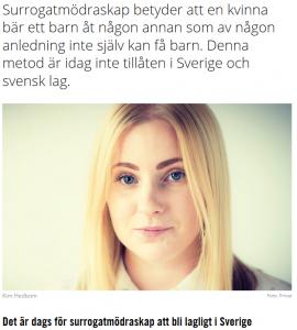 QX.se - Det är dags för surrogatmödraskap att bli lagligt i Sverige - Nordic Surrogacy