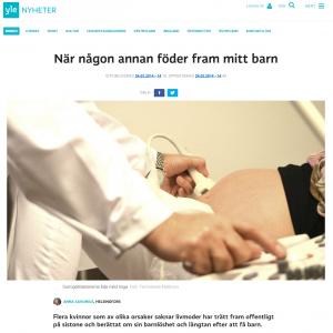 Yle.fi - När en surrogatmamma föder fram mitt barn - Nordic Surrogacy