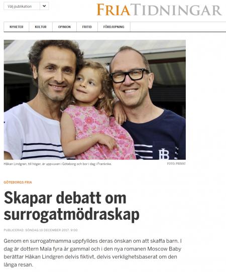 FriaTidningar - Skapar debatt om surrogatmödraskap - Nordic Surrogacy