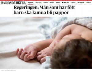 Dn.se - Regeringen moderniserar regler om assisterad befruktning och föräldraskap - Nordic Surrogacy