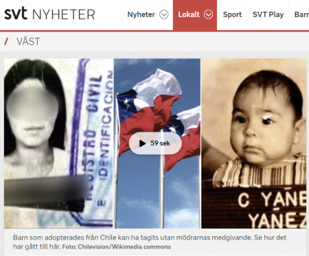 Svt.se - Sverige i centrum för olagliga adoptioner med chilenska barn - Nordic Surrogacy