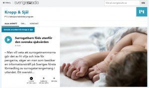 SR.se - Ett svenskt barn i veckan föds av en surrogatmamma - Nordic Surrogacy