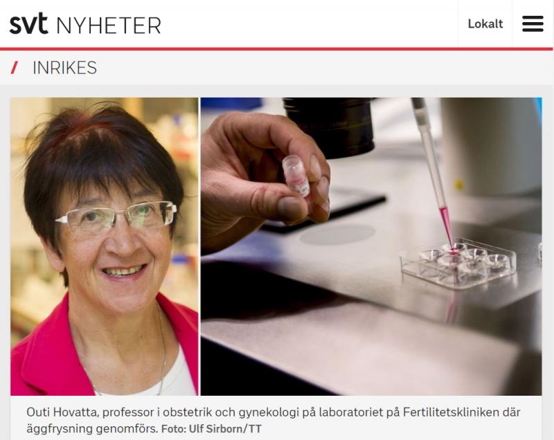 SVT.se - Åldern är viktig vid eggfrysning - Nordic Surrogacy