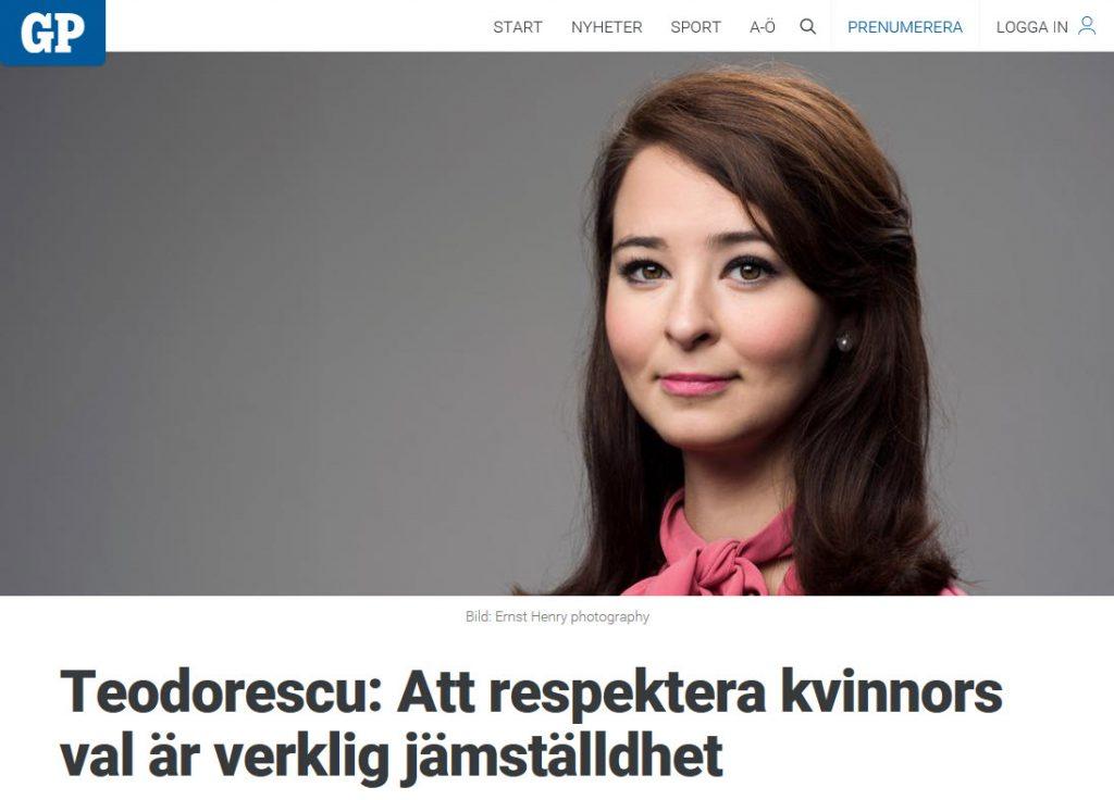 Teodorescu kommenterar surrogatmödraskap i GP -Nordic Surrogacy