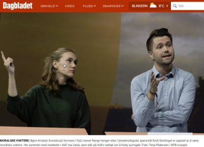Dagbladet - Surrogati bør bli lovlig i Norge, sier FpU-sjefen - Nordic Surrogacy