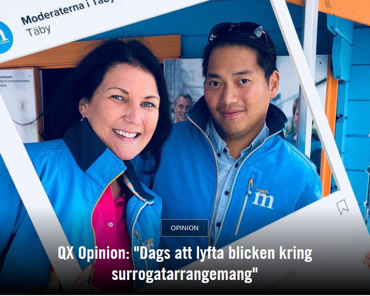 Moderater på QX - Dags att lyfta blicken kring surrogatarrangemang - Nordic Surrogacy