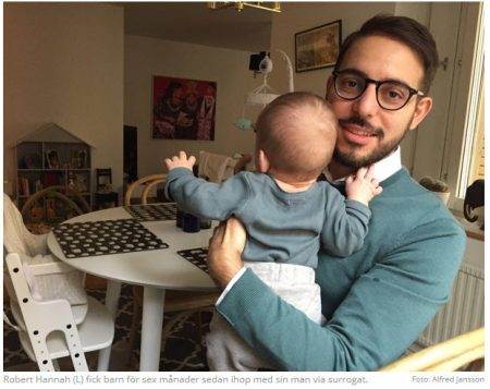 Riksdagsledamoten Robert Hannah (L) fick barn via surrogatmamma - Tammuz Nordic Surrogacy