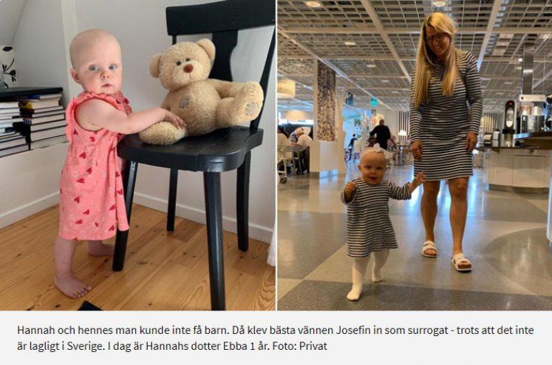 Hon var surrogatmamma och födde sin bästa kompis barn - Nordic Surrogacy