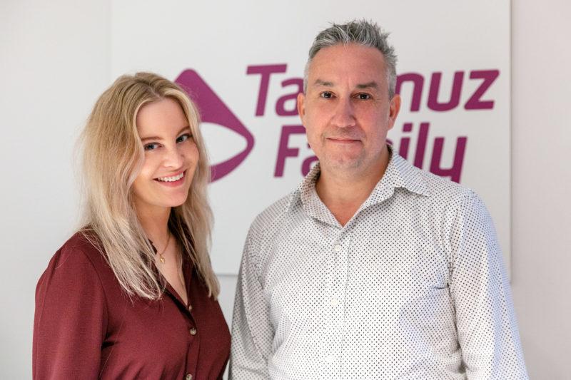 Emma Dahlén jurist och Eduardo Afonso VD på surrogat-agenturen Nordic Surrogacy