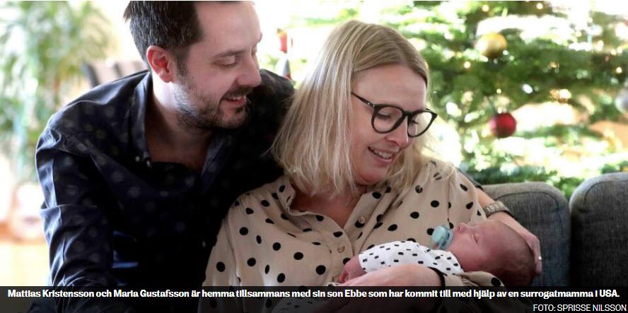 Ebbe föddes av surrogatmamma i USA - Foto Sprisse Nilsson - YstadsAllehanda