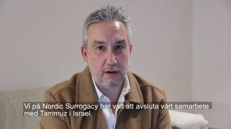 Nordic Surrogacy avslutar samarbetet med Tammuz